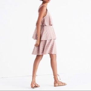 Ace & Jig Simone Layered Striped Dress in Dune